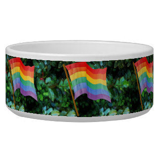 Rainbow Flag Pet Bowls