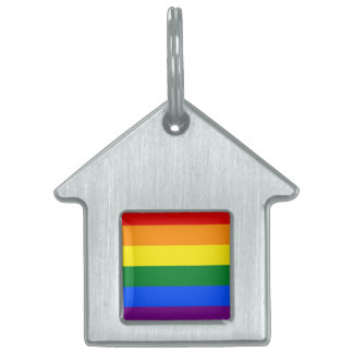 Rainbow Flag Pet ID Tag