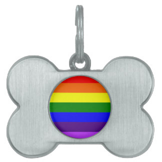 Rainbow Flag Pet Name Tag