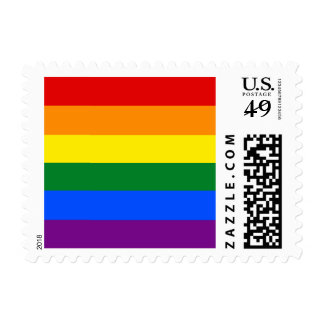 Rainbow flag postage stamps