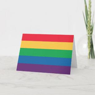 Rainbow Flag Pride Greeting Card - Blank Inside