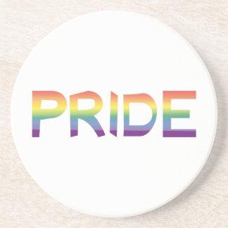 Rainbow Flag Pride Sandstone Coaster