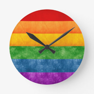 Rainbow Flag Round Clock