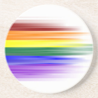 Rainbow Flag Sandstone Coaster
