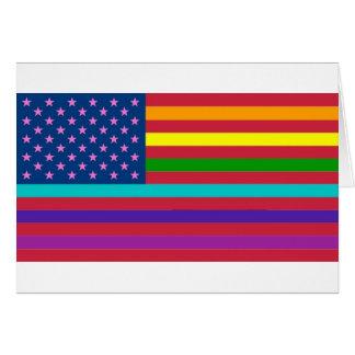 RAINBOW FLAG - SHOW YOUR COLORS! CARD