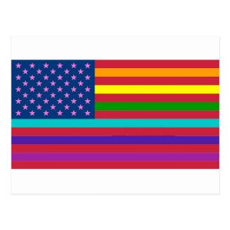 RAINBOW FLAG - SHOW YOUR COLORS! POSTCARD