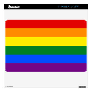 "Rainbow Flag Skin For 11"" MacBook Air"