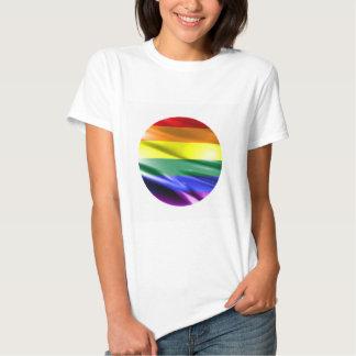 RAINBOW FLAG SQUARE SILK T-Shirt