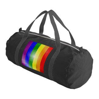 RAINBOW FLAG SQUARE TILE -.png Gym Duffel Bag