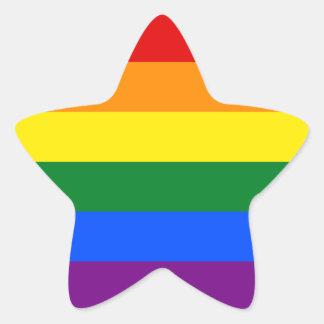 Rainbow Flag Star Sticker