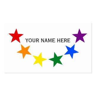 RAINBOW FLAG STARS II + your ideas Business Card Template