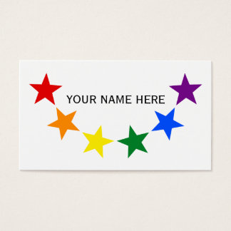 RAINBOW FLAG STARS II + your ideas Business Card