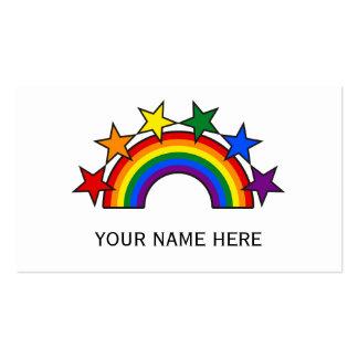 RAINBOW FLAG STARS III + your ideas Business Cards