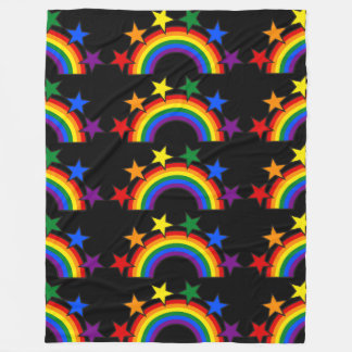 RAINBOW FLAG STARS III + your ideas Fleece Blanket