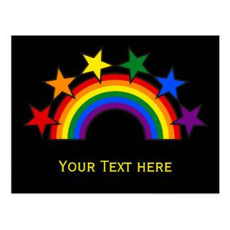 RAINBOW FLAG STARS III + your ideas Postcard