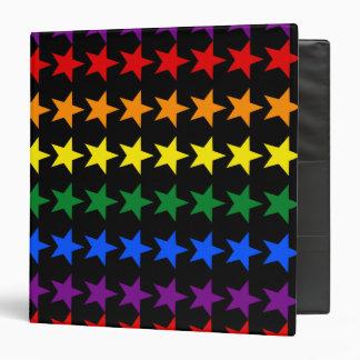 RAINBOW FLAG STARS + your ideas 3 Ring Binder
