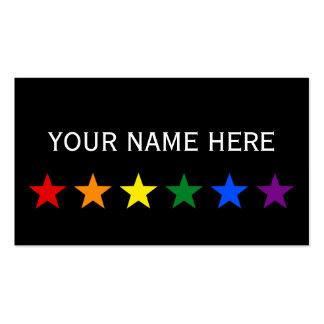 RAINBOW FLAG STARS + your ideas Business Cards