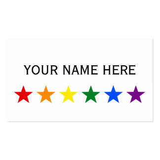 RAINBOW FLAG STARS + your ideas Double-Sided Standard Business Cards (Pack Of 100)