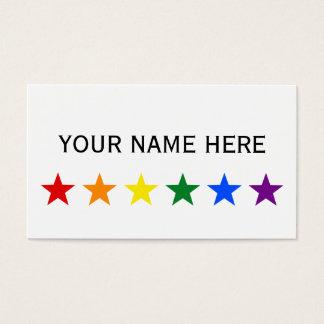 RAINBOW FLAG STARS + your ideas Business Card