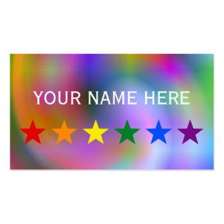 RAINBOW FLAG STARS + your ideas Business Card Templates
