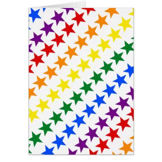 RAINBOW FLAG STARS + your ideas Card