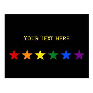 RAINBOW FLAG STARS + your ideas Postcard