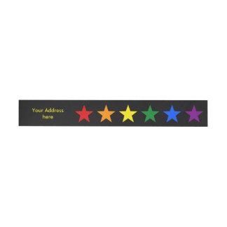 RAINBOW FLAG STARS + your ideas Wrap Around Address Label