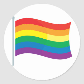 Rainbow Flag Round Stickers