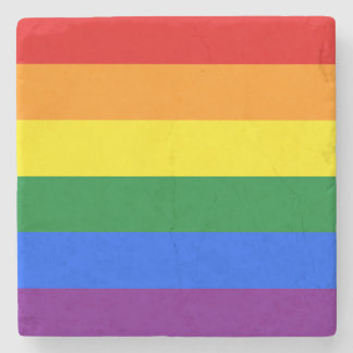 Rainbow Flag Stone Coaster