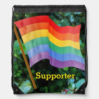 Rainbow Flag - Supporter Drawstring Backpack