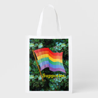 Rainbow Flag - Supporter Grocery Bags