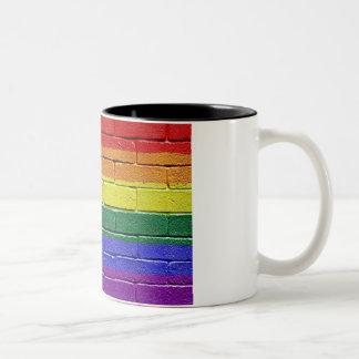 Rainbow flag Two-Tone coffee mug