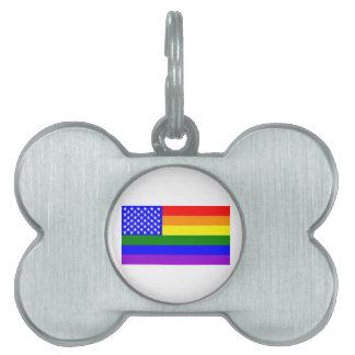 Rainbow flag united states pet tag