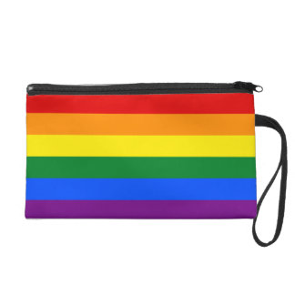 Rainbow Flag Wristlet Purse