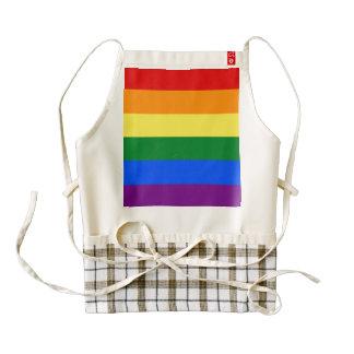 Rainbow Flag Zazzle HEART Apron