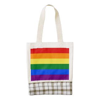 Rainbow Flag Zazzle HEART Tote Bag
