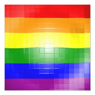 Rainbow Flag Magnetic Invitations