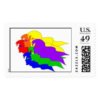 Rainbow Flags-Postage