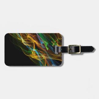 Rainbow Flame Bag Tag