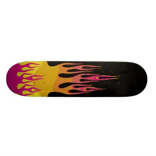 Rainbow Flame Skateboard