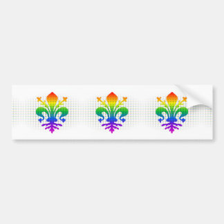 Rainbow Fleur-de-lis Bumper Sticker