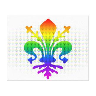 Rainbow Fleur-de-lis Canvas Print