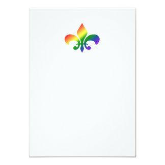 Rainbow Fleur de Lis Card