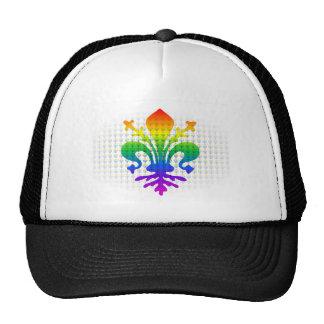 Rainbow Fleur-de-lis Trucker Hat