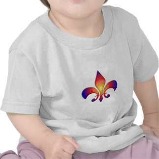 Rainbow Fleur de Lis Tee Shirts