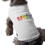 Rainbow Flip Flops Doggie Tee Shirt