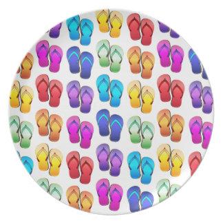 Rainbow Flip Flops Party Plates