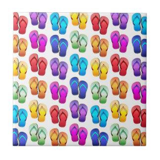 Rainbow Flip Flops Tile