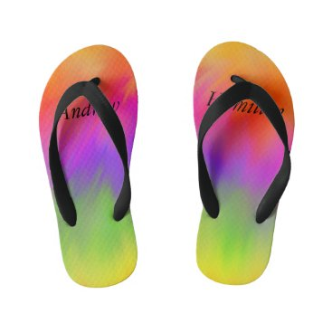 Rainbow Flip Flops with your Name