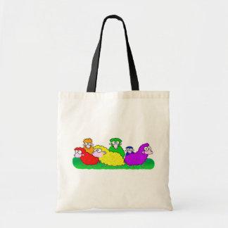 Rainbow Flock Tote Bag